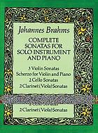 Complete sonatas for solo instrument and piano