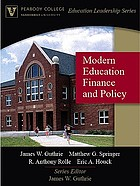 Modern education finance and policy