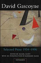 Selected prose, 1934-1996