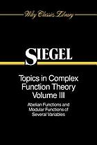 Topics in complex function theory