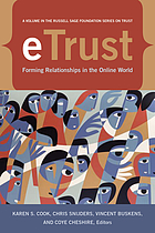 ETrust : forming relationships in the online world