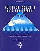Tenth International Workshop on Research Issues in Data Engineering : RIDE 2000 : proceedings, San Diego, California, 28-29 February 2000