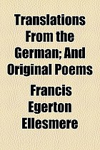 Translations from the German; and original poems