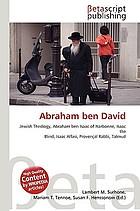 Abraham ben David: Jewish Theoloy, Abraham ben Isaac of Narbonne, Isaac the Blind, Isaac Alfasi, Provencal Rabbi, Talmud