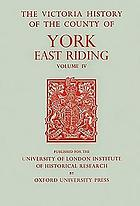 A History of the county of York, East Riding