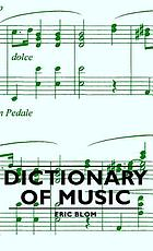 The new Everyman dictionary of music