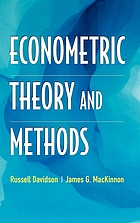 Econometric theory and methods