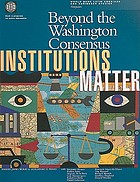 Beyond the Washington consensus institutions matter
