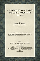 A history of the English bar and attornatus to 1450