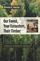 Our forest, your ecosystem, their timber : communities, conservation, and the state in community-based forest management