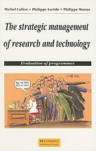The strategic management of research and technology : evaluation of programmes