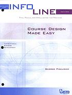 Course design made easy