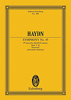Symphony, no. 45, originally no. 18, F minor (Farewell)