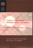 Topics in empirical international economics : a festschrift in honor of Robert E. Lipsey