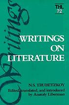 Writings on literature