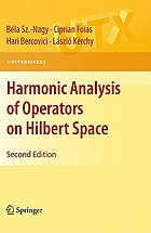 Harmonic analysis of operators on Hilbert space