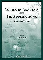 Topics in analysis and its applications : selected theses
