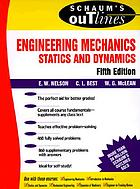 Theory and problems of engineering mechanics statics and dynamics