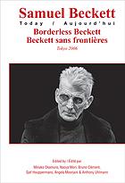 Borderless Beckett Beckett sans Frontières