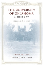 The University of Oklahoma : a history