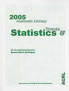 2005 academic library trends and statistics for Carnegie classification