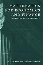 Mathematics for economics and finance : methods and modelling