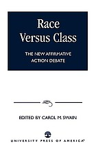 Race versus class : the new affirmative action debate