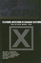 Television advertising in Canadian elections : the attack mode 1993