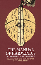 The manual of harmonics of Nicomachus the Pythagorean