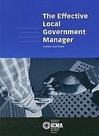The effective local government manager