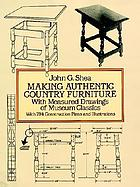 Antique country furniture of North America