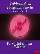 Tableau de la géographie de la France