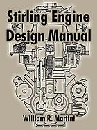 Stirling engine design manual