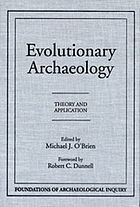 Evolutionary archaeology : theory and application