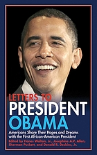Letters to President Obama : Americans share our hopes and dreams with the first African-American president