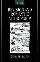 Revision and romantic authorship