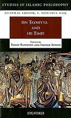 Ibn Taymiyya and his times