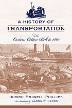 A history of transportation of the eastern Cotton Belt to 1860