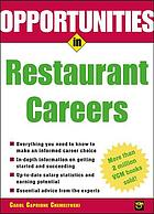 Opportunities in restaurant careers