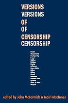 Versions of censorship; an anthology