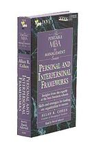 Personal and interpersonal frameworks