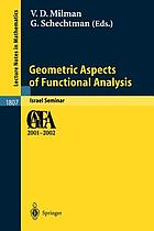 Geometric aspects of functional analysis : Israel seminar 2001-2002