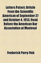 Letters patent : article from the scientific american of september 27 and october 4, 1913,