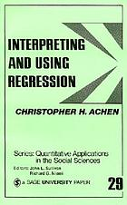 Interpreting and using regression