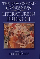 The new Oxford companion to literature in French