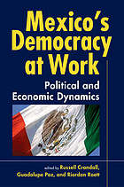 Mexico's democracy at work : political and economic dynamics