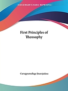 First principles of theosophy