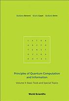 Principles of quantum computational and information