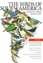 The birds of South AmericaThe birds of South America. Vol 1, The oscine passerines