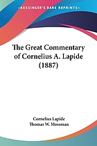 The great commentary of Cornelius à Lapide